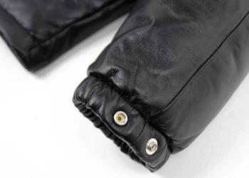 ダウンジャケット(ラム革)ショート丈袖部分