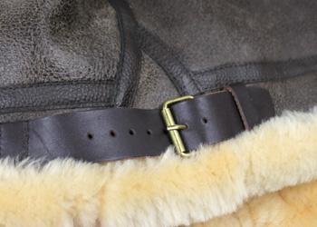 ラム革フライトジャケットB−3(ムートン)羊、サイドベルト