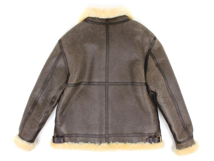 ラム革フライトジャケットB−3(ムートン)羊、背面