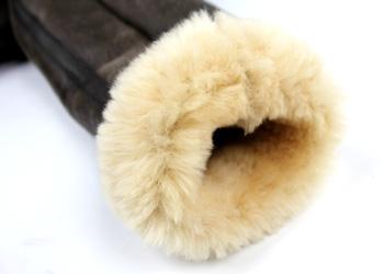 ラム革フライトジャケットB−3(ムートン)羊、袖口