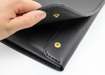 iPadノートパッドフォルダー(牛革)ホックボタン