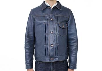Gジャンタイプレザージャケット インディゴホース(馬革/日本製)ベースはGジャンファースト
