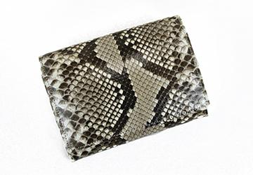 d31660eb2ed2 収納力抜群の二つ折り蛇革財布(錦蛇革) 革製品専門店レザーハウス