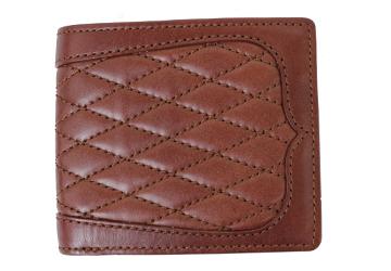 ca14b902987f ウエスタン調キルティング二つ折り財布(牛革/日本製)|革製品専門店 ...
